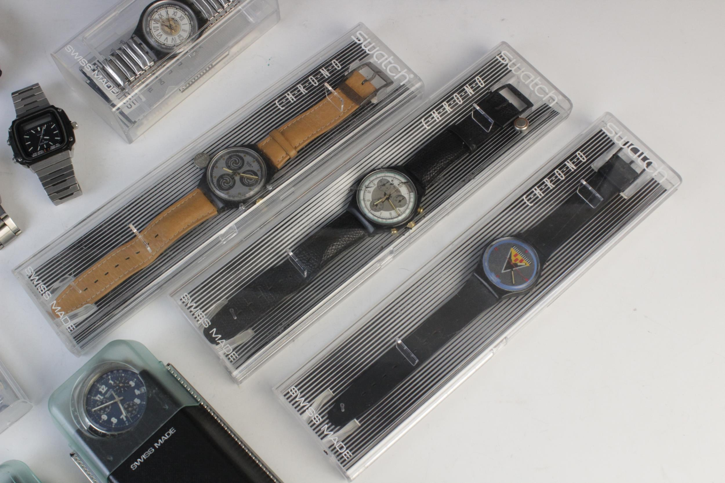 A large collection of vintage and modern dress watches, including a Longines Quartz T1 Timer, a - Image 3 of 11