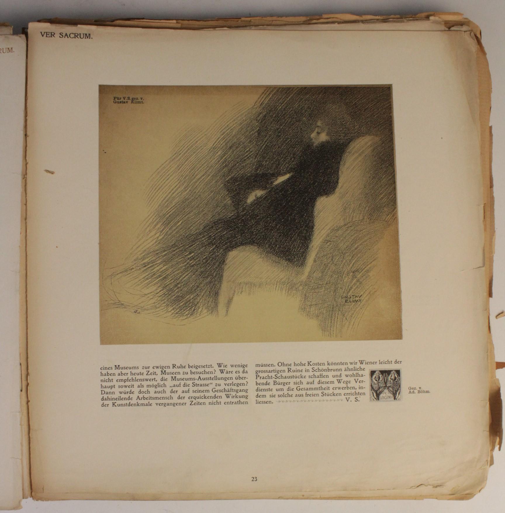 VER SACRUM, ORGAN DER JEREINIGUNG BILDENDER KUENSTLER OSTERREICHS [ORGAN OF THE PURIFICATION OF - Image 12 of 16