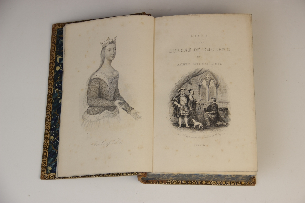 DECORATIVE BINDINGS: Strickland (A), LIVES OF THE QUEENS OF ENGLAND, FROM THE NORMAN CONQUEST, 8 - Image 7 of 14