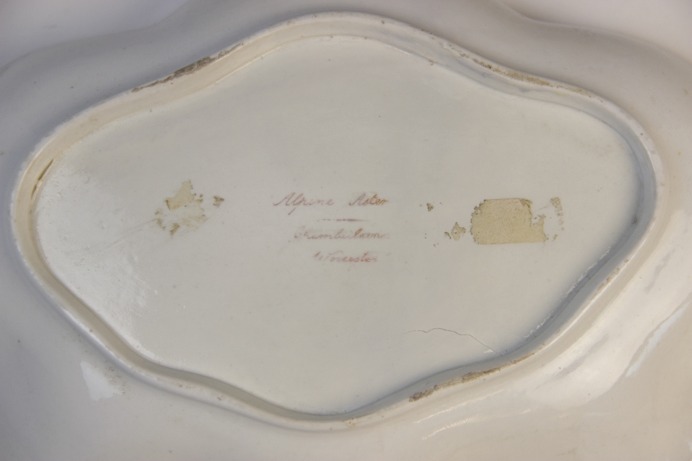A selection of English porcelain, 18th century and later, comprising: a first period Worcester - Image 4 of 6