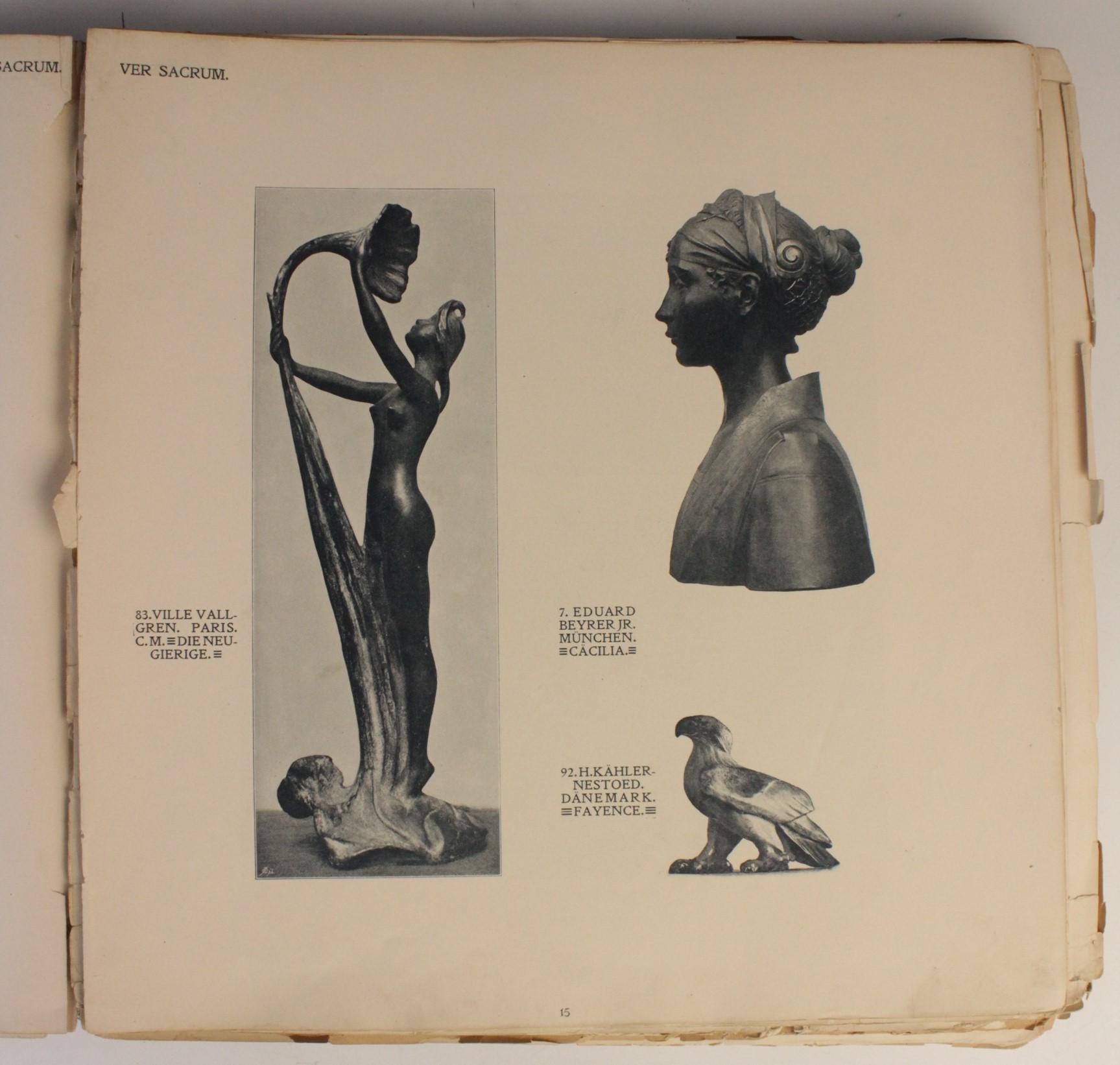 VER SACRUM, ORGAN DER JEREINIGUNG BILDENDER KUENSTLER OSTERREICHS [ORGAN OF THE PURIFICATION OF - Image 6 of 16