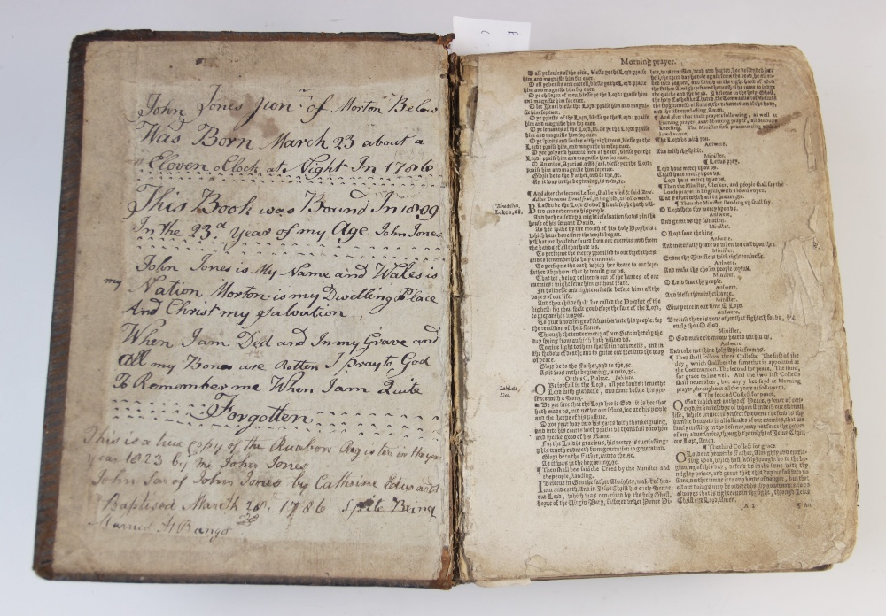 A 'breeches' Bible, early 17th century, full leather, the Old Testament lacking title page, the - Image 2 of 7
