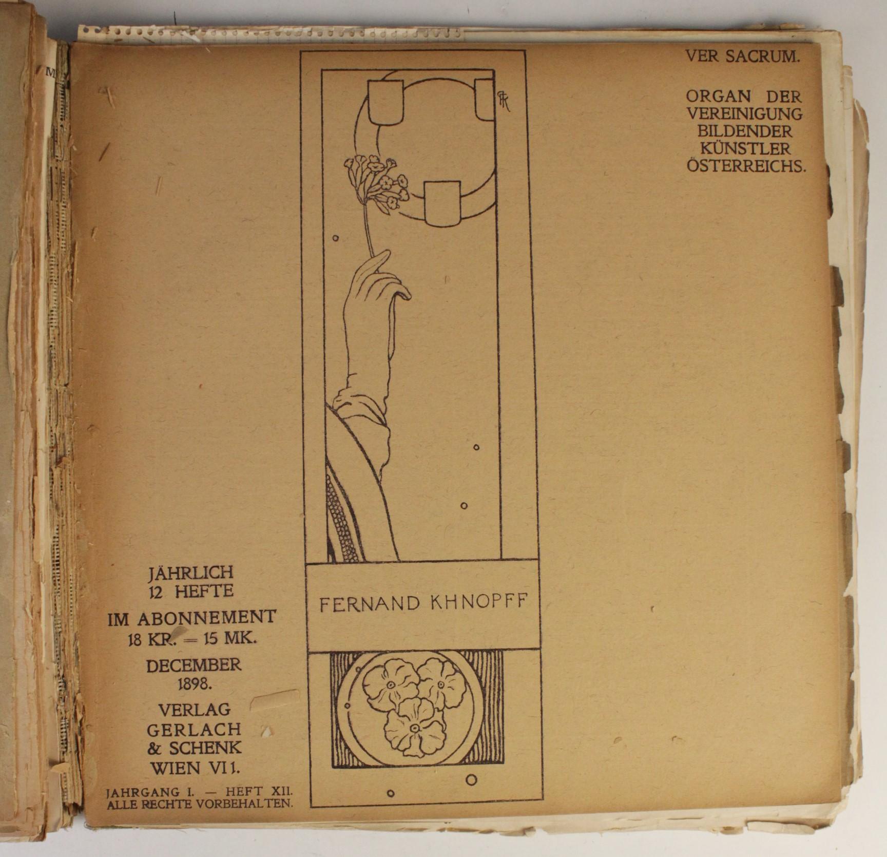 VER SACRUM, ORGAN DER JEREINIGUNG BILDENDER KUENSTLER OSTERREICHS [ORGAN OF THE PURIFICATION OF - Image 13 of 16