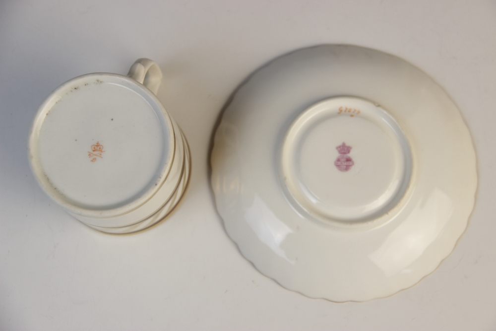 A Derby porcelain part tea service, early 19th century, comprising: a teapot and cover, a milk - Image 6 of 6