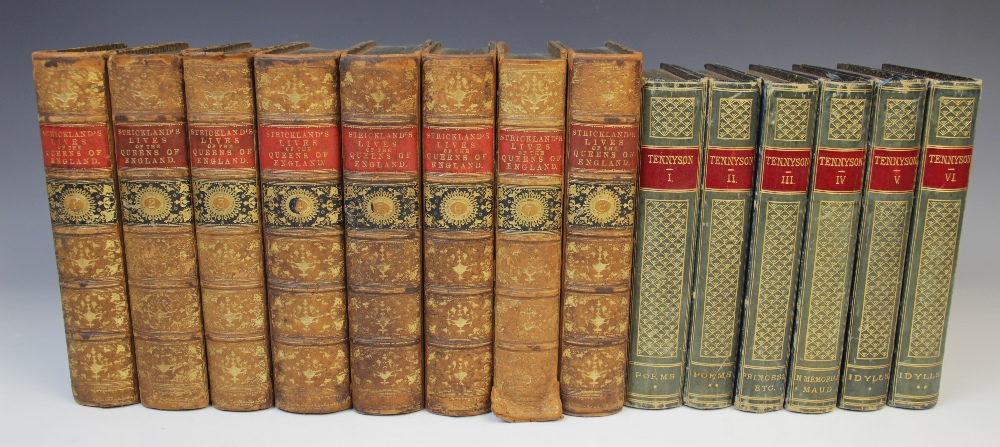 DECORATIVE BINDINGS: Strickland (A), LIVES OF THE QUEENS OF ENGLAND, FROM THE NORMAN CONQUEST, 8