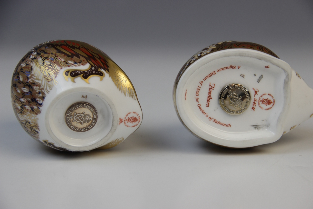 Six Royal Crown Derby paperweights, comprising: two Collector's Guild bank voles (gold stoppers), - Image 4 of 4