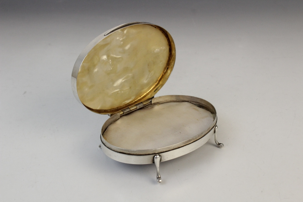 A silver compact by Clark & Sewell, Chester 1942, 7.7cm diameter, together with a silver and - Image 8 of 10