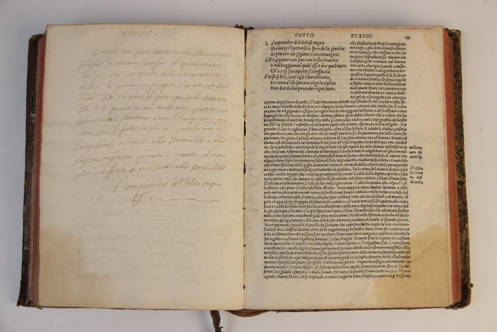 Dante Alighieri, OPER'E DEL DIVINO POETA DANTHE CON SUOI COMENTI: RECORRECTI ET CON OCNE - Image 4 of 6