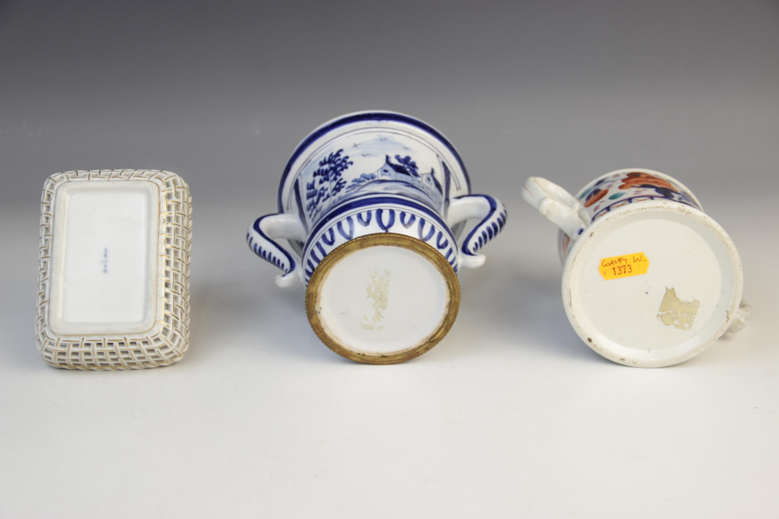 A selection of British and Continental porcelain, to include a German porcelain bottle vase with - Image 3 of 3