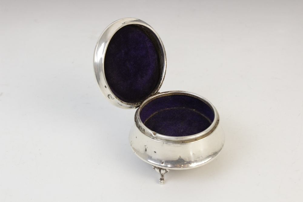 A silver compact by Clark & Sewell, Chester 1942, 7.7cm diameter, together with a silver and - Image 6 of 10