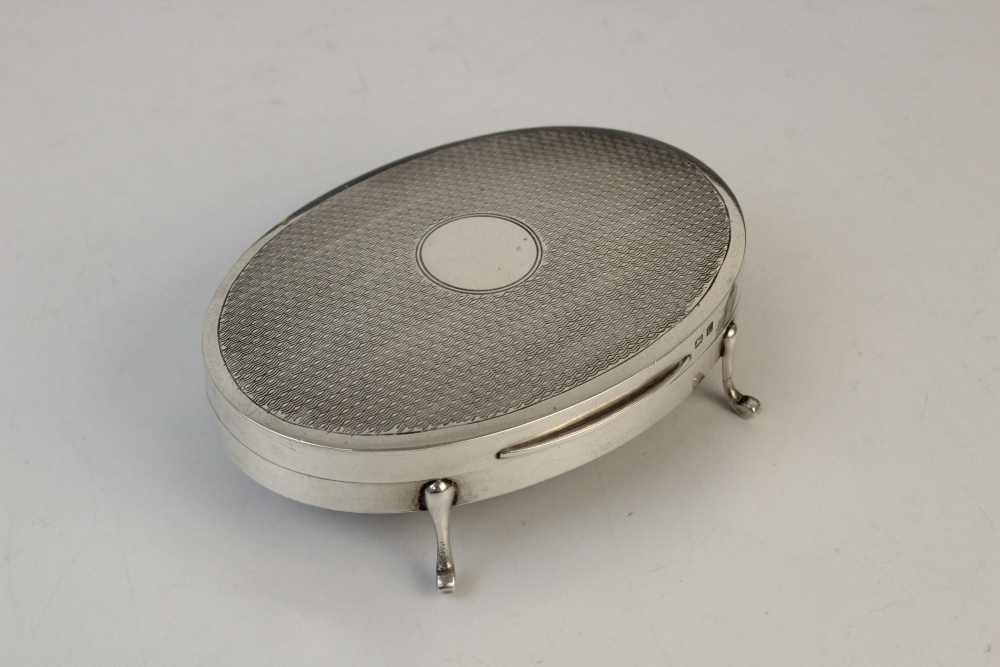 A silver compact by Clark & Sewell, Chester 1942, 7.7cm diameter, together with a silver and - Image 7 of 10