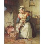 William Harris Weatherhead (1843-1903), 'Plucking', Watercolour on paper, Signed lower right and