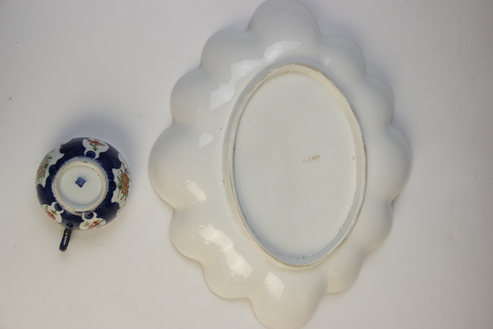 A selection of English porcelain, 18th century and later, comprising: a first period Worcester - Image 3 of 6