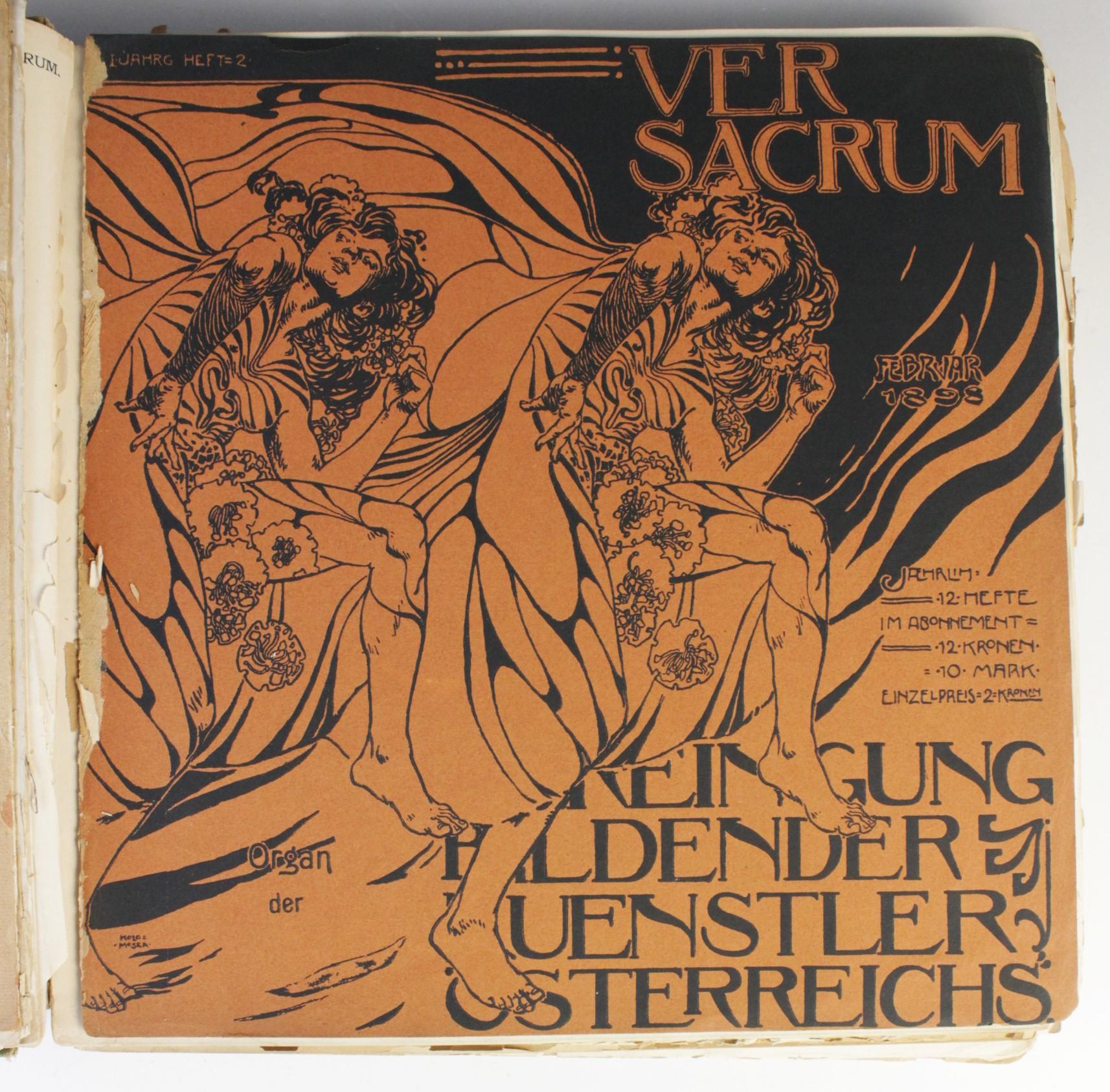VER SACRUM, ORGAN DER JEREINIGUNG BILDENDER KUENSTLER OSTERREICHS [ORGAN OF THE PURIFICATION OF - Image 4 of 16
