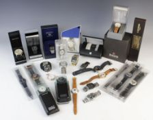 A large collection of vintage and modern dress watches, including a Longines Quartz T1 Timer, a