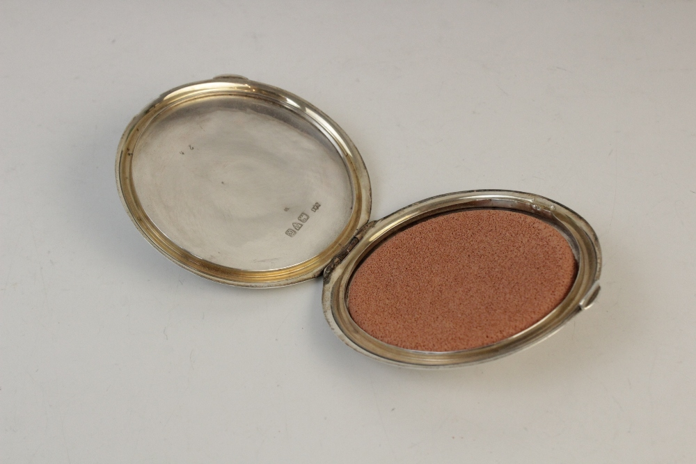 A silver compact by Clark & Sewell, Chester 1942, 7.7cm diameter, together with a silver and - Image 10 of 10