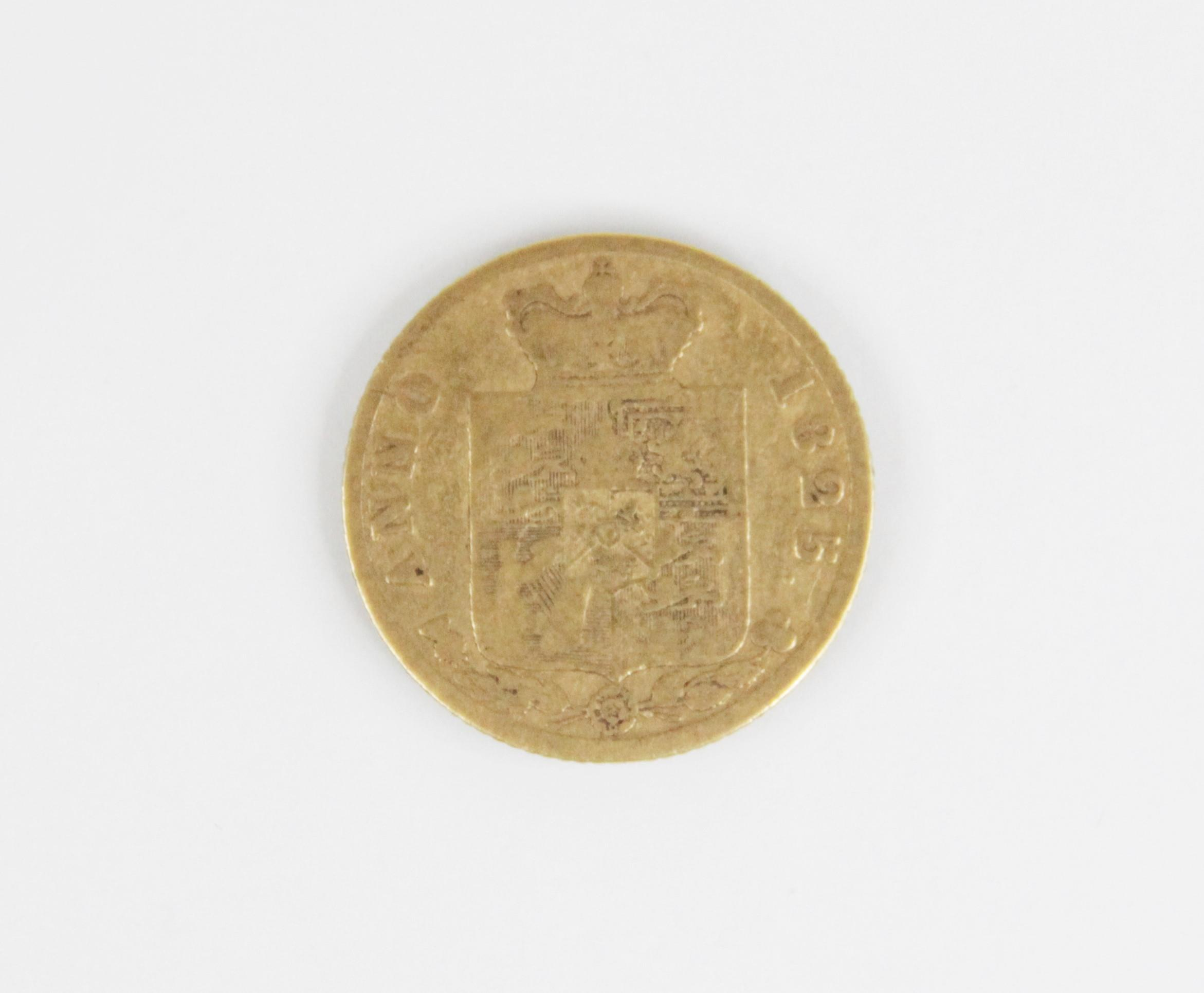A George IV shield-back half-sovereign, dated 1825, weight 3.9gms