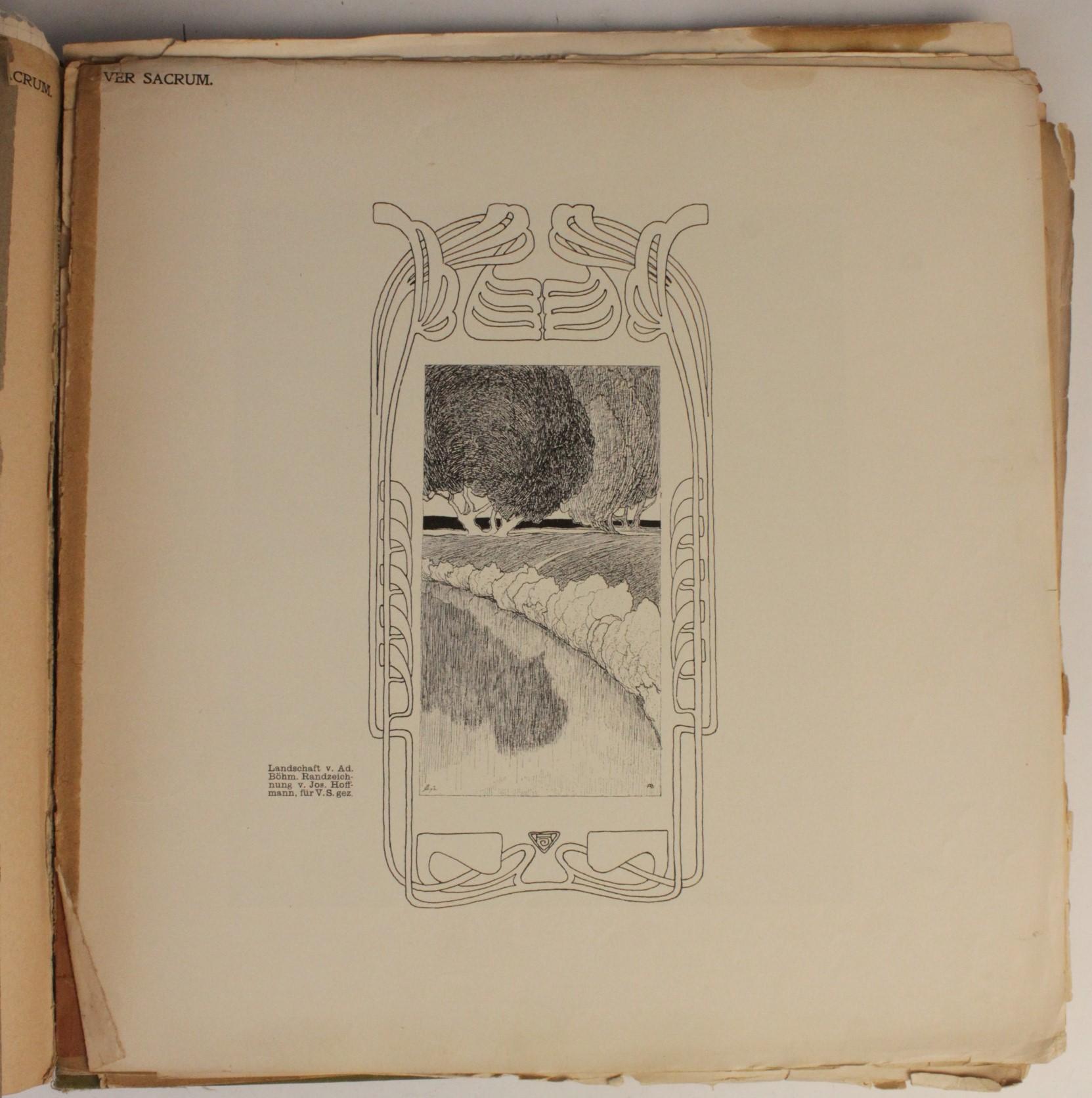 VER SACRUM, ORGAN DER JEREINIGUNG BILDENDER KUENSTLER OSTERREICHS [ORGAN OF THE PURIFICATION OF - Image 15 of 16