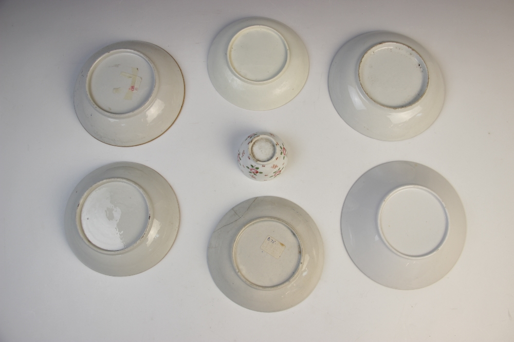 A selection of English porcelain, 18th century and later, comprising: a first period Worcester - Image 2 of 6