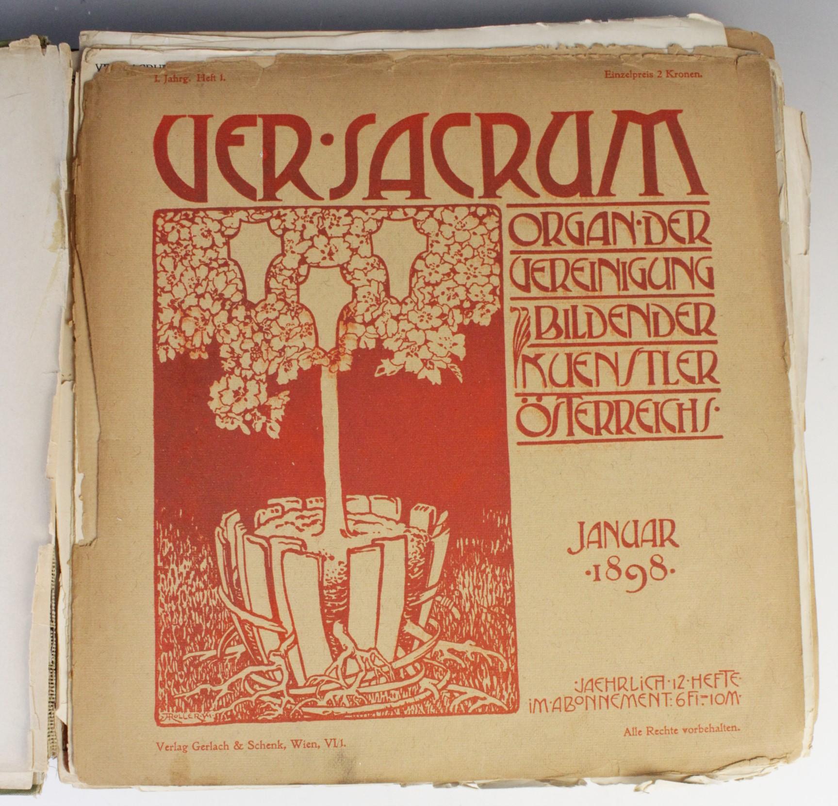 VER SACRUM, ORGAN DER JEREINIGUNG BILDENDER KUENSTLER OSTERREICHS [ORGAN OF THE PURIFICATION OF - Image 3 of 16
