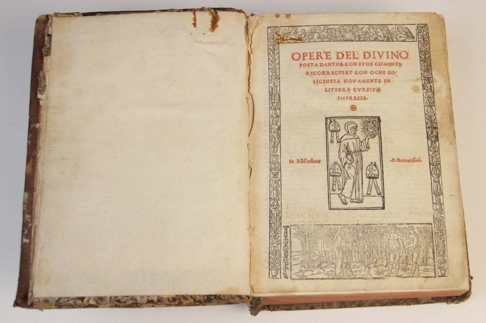 Dante Alighieri, OPER'E DEL DIVINO POETA DANTHE CON SUOI COMENTI: RECORRECTI ET CON OCNE - Image 2 of 6