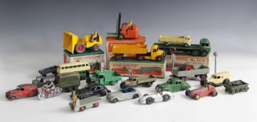 A collection of Diecast vehicles, to include a Dinky Supertoys Foden Flat Truck (No. 502), a Dinky