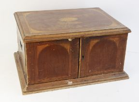 An early 20th century mahogany canteen manufactured by Walker & Hall, of rectangular form with