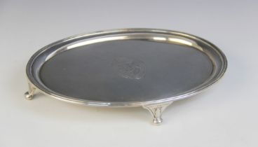 A George III silver teapot stand, marked ?IT? (possibly John Tatum I), London 1790, of oval form