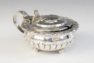 A George III silver wet mustard, possibly Crispin Fuller, London 1823, of compressed circular form
