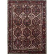 TAPPETO AFSHARI trama ed ordito in cotone, vello in lana. Persia XX secolo - cm 168 x 124