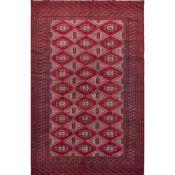 TAPPETO KASHMIR BOKARA Trama ed ordito in cotone, vello in lana. Pakistan XX secolo - cm 245 x 163