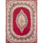 TAPPETO KERMAN IMPERIALE trama ed ordito in cotone, vello in lana. Persia prima metà XX secolo - cm
