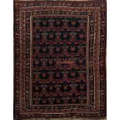TAPPETO SIRGJAN FARADOMBEH EXTRA FINE trama, ordito e vello in lana (usura nel vello). Persia XX