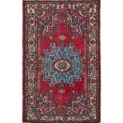 TAPPETO TAFRESH trama ed ordito in cotone, vello in lana. Persia XX secolo - cm 222 x 138