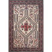 TAPPETO SIRJAN trama ed ordito in cotone, vello in lana. Persia XX secolo - cm 213 x 146