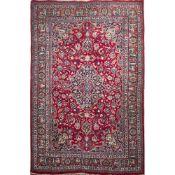 TAPPETO MASHAD trama ed ordito in cotone, vello in lana. Persia XX secolo - cm 275 x 201