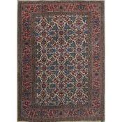 TAPPETO TABRIZ 35 RAJ trama ed ordito in cotone, vello in lana. Persia XX secolo - cm 196 x 144