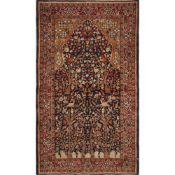 TAPPETO AGRA trama ed ordito in cotone, vello in lana. India XX secolo - cm 161 x 93