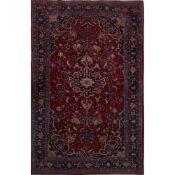 TAPPETO JOZAN trama ed ordito in cotone, vello in lana. Persia XX secolo - cm 162 x 106,5