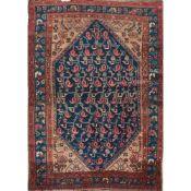TAPPETO MALAYER trama, ordito e vello in lana. Persia prima metà XX secolo - cm 191 x 139