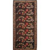 TAPPETO KILIM QARABAG trama in lana ed ordito in cotone. Moldavia XX secolo - cm 364 x 163