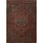 TAPPETO BIDJAR trama ed ordito in cotone, vello in lana. Persia XX secolo - cm 170 x 112