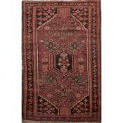 TAPPETO MOSSUL trama ed ordito in cotone, vello in lana. Persia XX secolo - cm 195 x 129