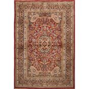 TAPPETO AGRA trama ed ordito in cotone, vello in lana. India XX secolo - cm 183 x 123