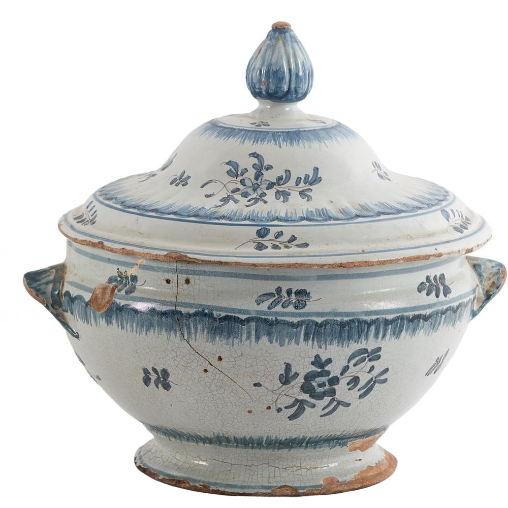 ZUPPIERA in ceramica smaltata e decorata