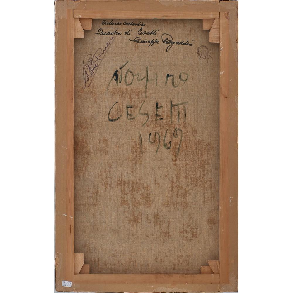 GIUSEPPE CESETTI Olio su tela - Image 2 of 2