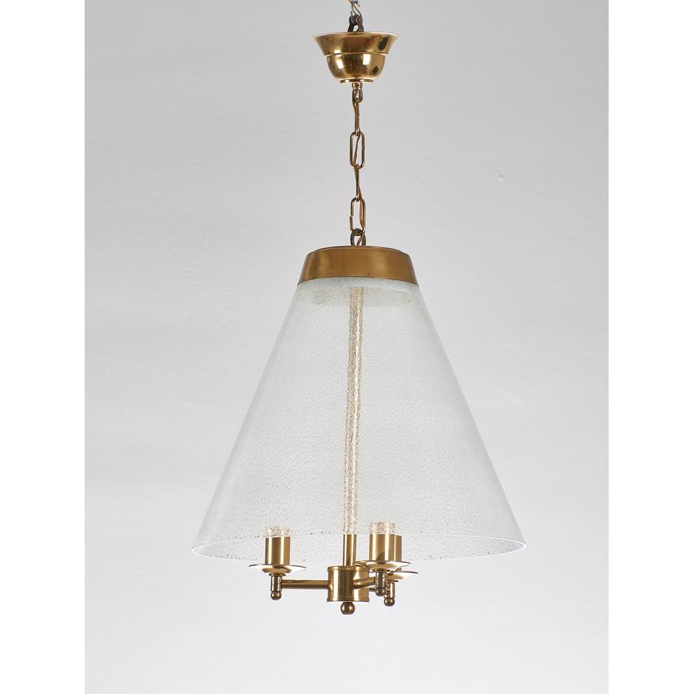 VENINI (Attr.le) Coppia di lampade a sospensione