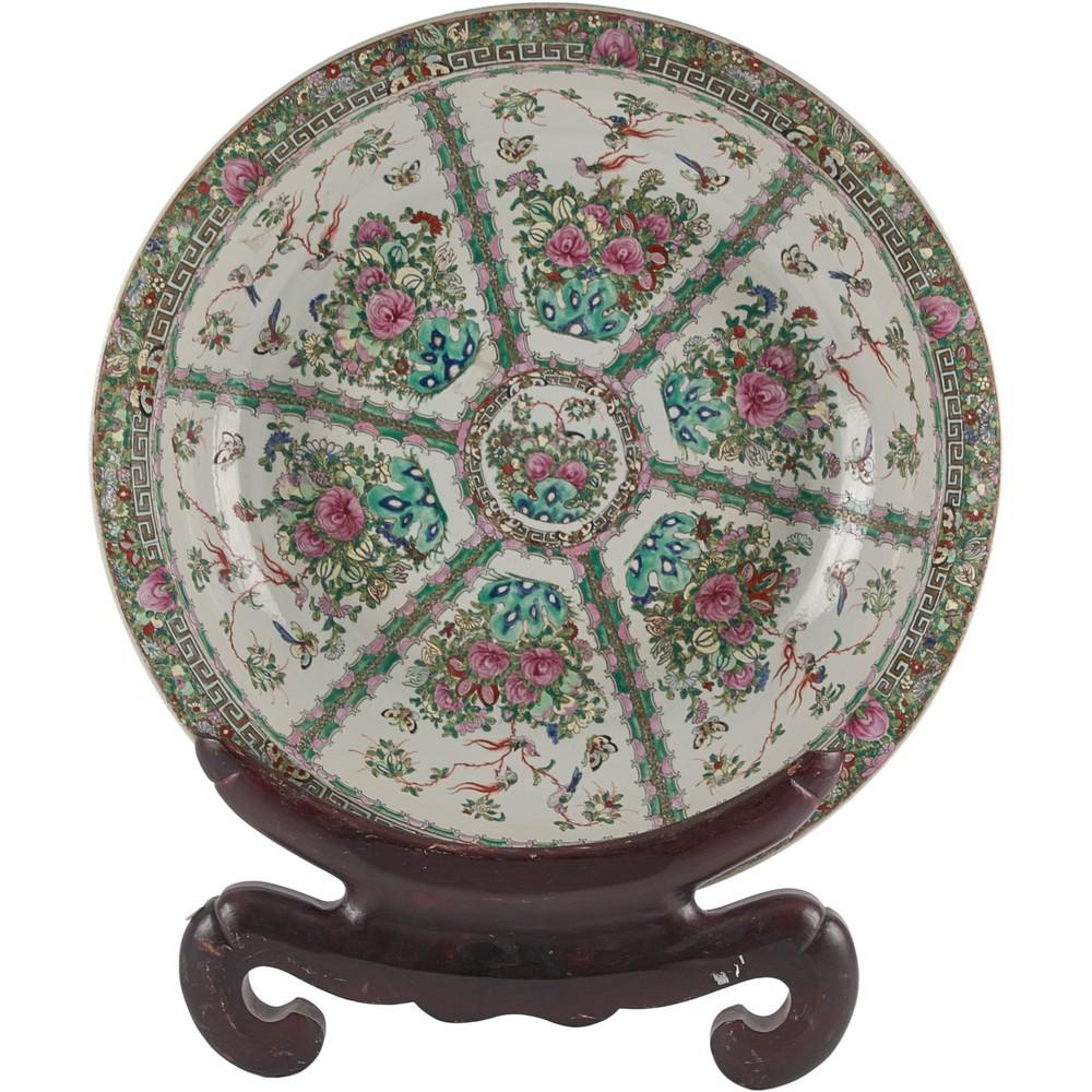 GRANDE BACILE Canton in porcellana decorata
