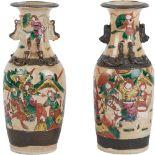 COPPIA VASI in porcellana decorata