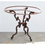 BASE di tavolo in ghisa di forma circolare